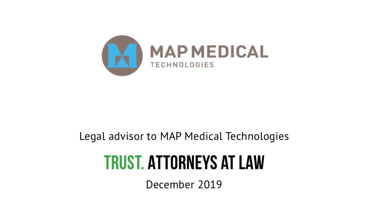 Trust advised the owners in the sale of MAP Medical Technologies Oy