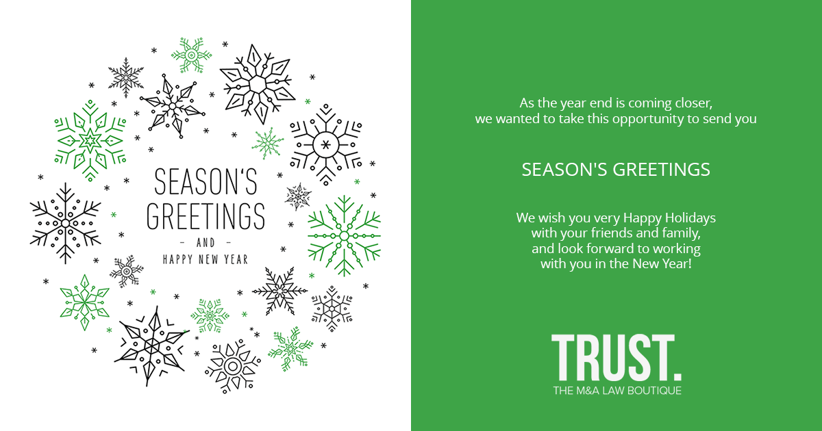 Season's Greetings 2019 from The TRUST.